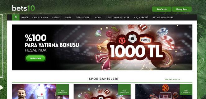 Bets10 Bonuslar Ekran Görüntüsü
