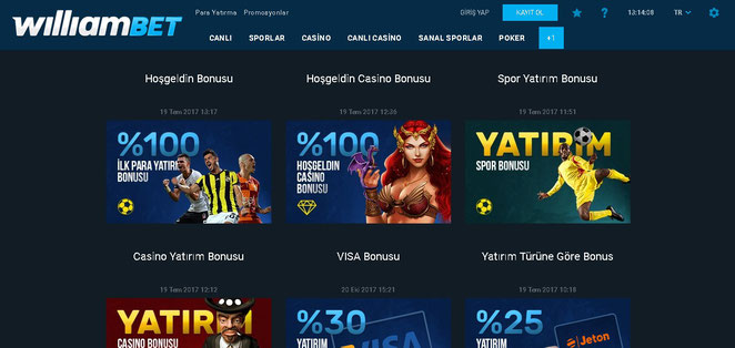 Williambet Bonus