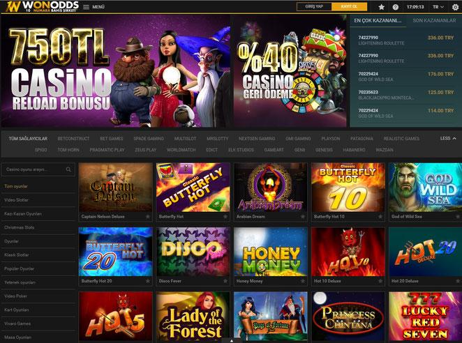 Wonodds Casino Ekran Görüntüsü