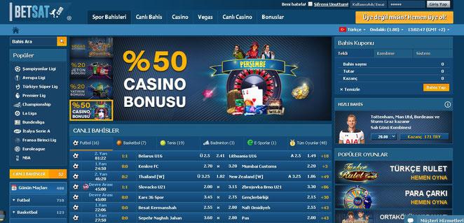 Betsat Ana Sayfa Ekran Görüntüsü
