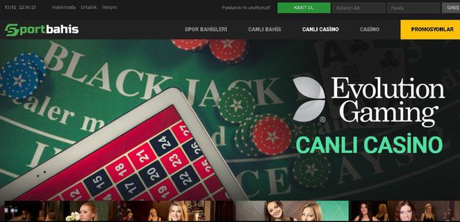 Sportbahis Canlı Casino Ekran Görüntüsü