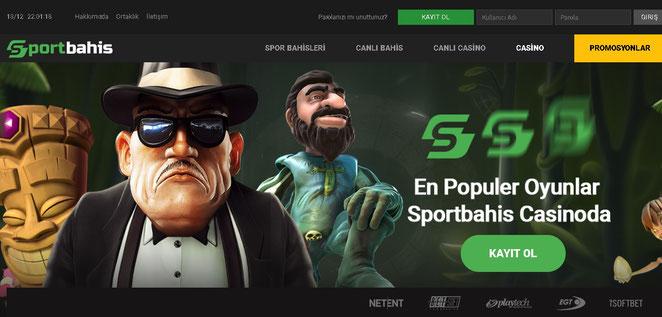 Sportbahis Casino Ekran Görüntüsü