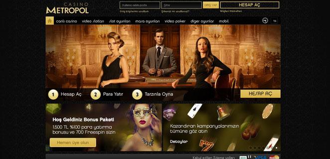 Casinometropol Bonuslar Ekran Görüntüsü