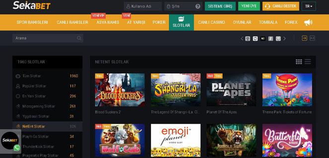 Sekabet Casino Ekran Görüntüsü