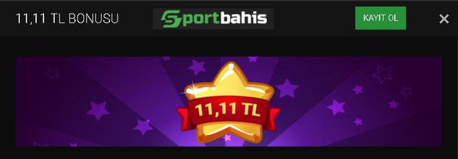 Sportbahis Bedava Bonus 11.11 TL