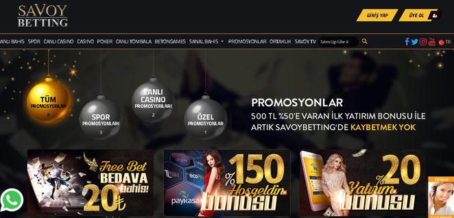 Savoybetting Bonuslar Ekran Görüntüsü