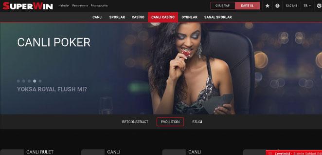 Süperwin Canlı Casino Ekran Görüntüsü