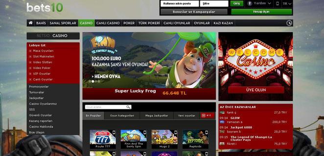 Bets10 Casino Ekran Görüntüsü