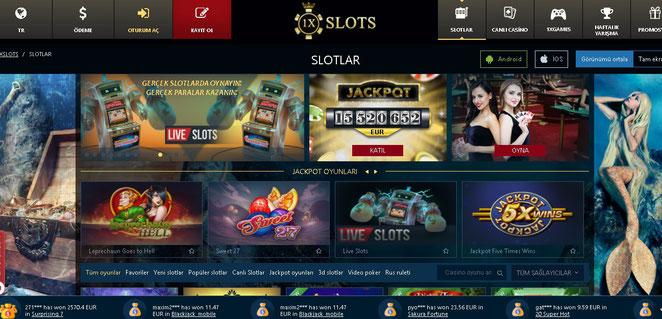 1xSlot Casino Ekran Görüntüsü