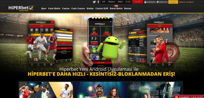 Hiperbet Ana Sayfa Ekran Görüntüsü