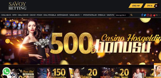 Savoybetting Ana Sayfa Ekran Görüntüsü
