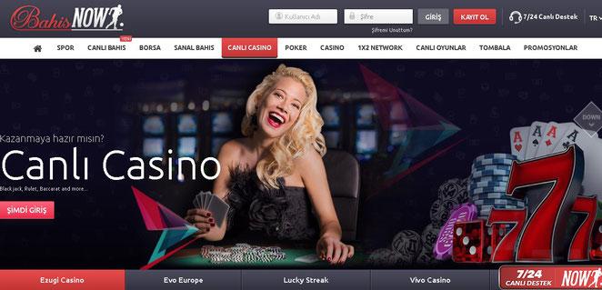 Bahisnow Canlı Casino Ekran Görüntüsü