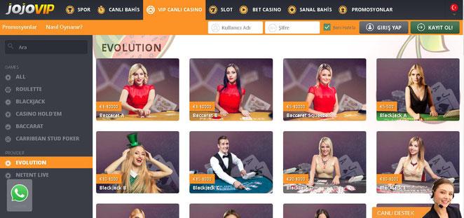 jojovip canlı casino