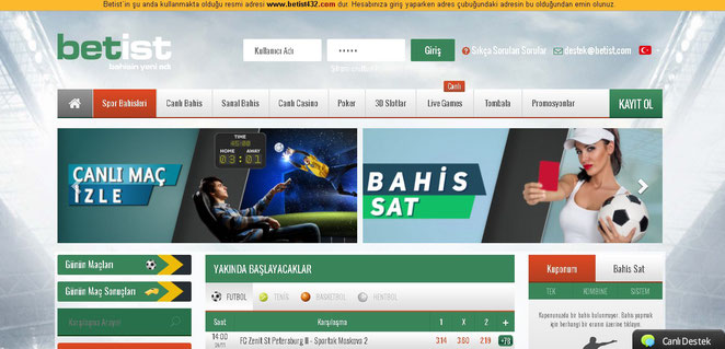 Betist Ana Sayfa Ekran Görüntüsü