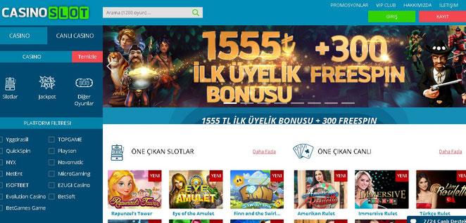 Casino Slot Ana Sayfa Ekran Görüntüsü
