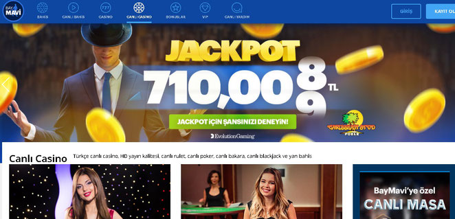 Baymavi Canlı Casino Ekran Görüntüsü