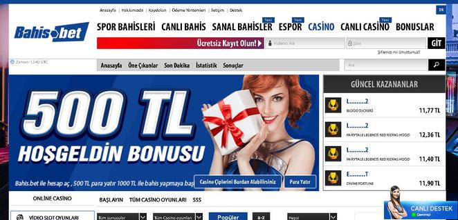Bahis.bet Casino Ekran Görüntüsü