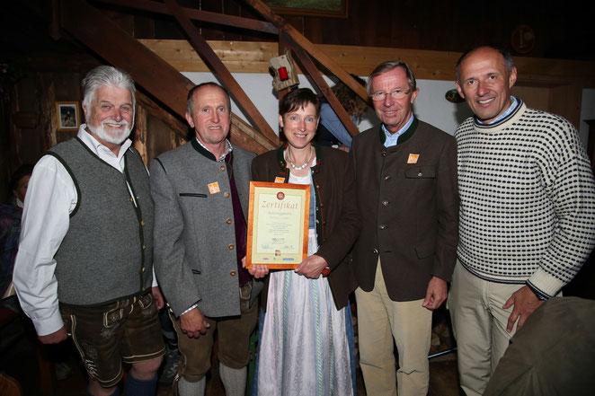 Zertifikat-Verleihung der Salzburger Almsommer Hütten