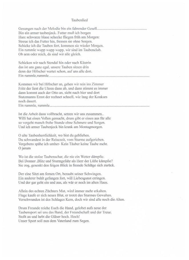 Ein Altes Wattenscheider Lied gefunden in Alten Unterlagen von Hans Jankowski.