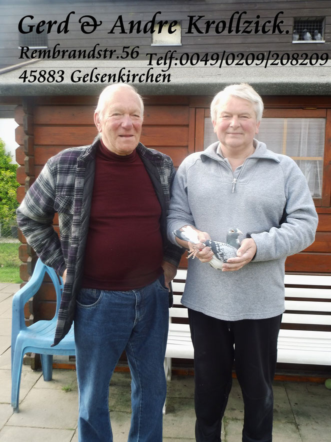 Gerd & Andre Krollzick, mit der 07018-07--0462Weibchen 1ten Konkurs.