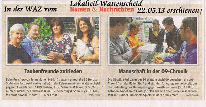 am,22.05.2013 in WAZ-BOWATT-Lokalt.