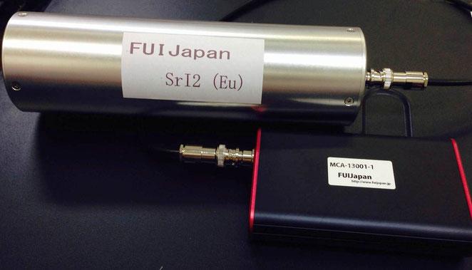 φ1×1インチヨウ化ストロンチウムSrI2(Eu)プローブ  デジタルMCA-13001-1(1線式)
