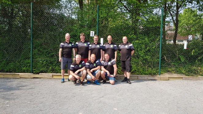 Unser NPV-Team 2018: (stehend) Tino, Soeren, Uwe, Frank, Malte, (hockend) Dirk, René, Jens. Es fehlen Jürgen und Jonas.