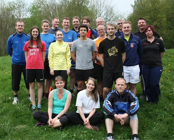 Die Teilnehmer der Rollhockey- Instructor- Ausbildung