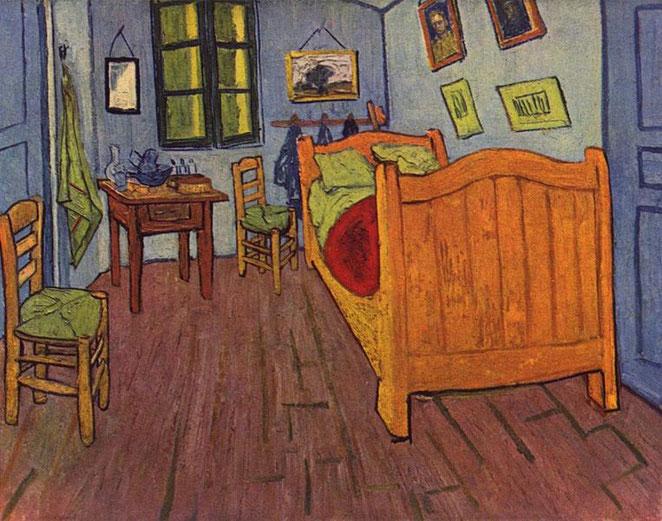 El dormitorio en Arlés – Van Gogh (1888)