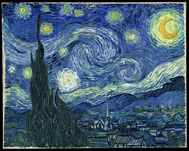 La noche estrellada – Van Gogh (1889).