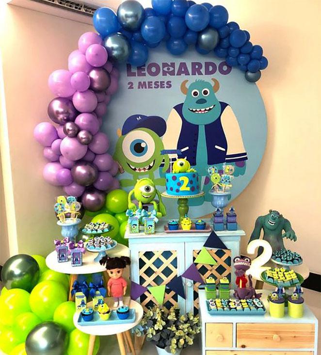 decoracion cumpleaños monster inc