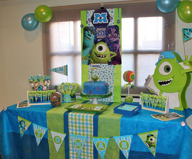 mesa de dulces monster inc