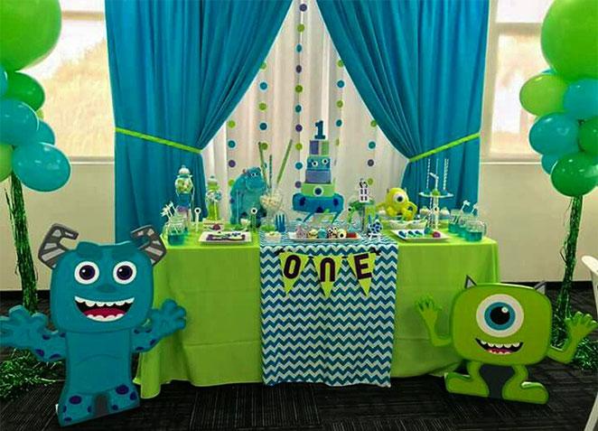 cumpleaños fiesta 1 año monster inc