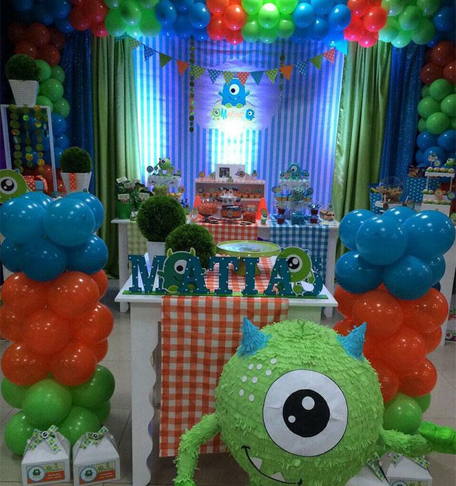 cumpleaños niño monster inc