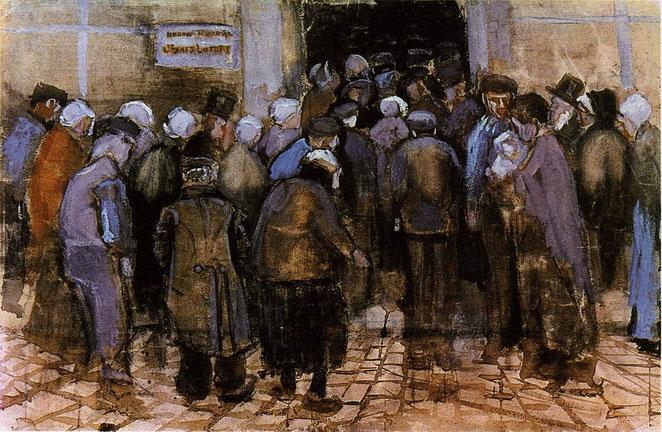 """Vincent Van Gogh, """"Lotteria di Stato"""", 1882"""