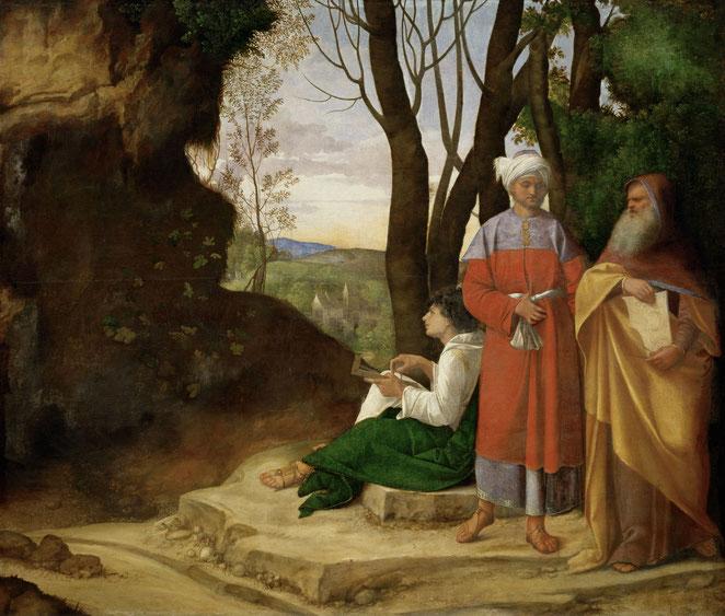 "Giorgione, ""Tre filosofi"" (1506-1508)"