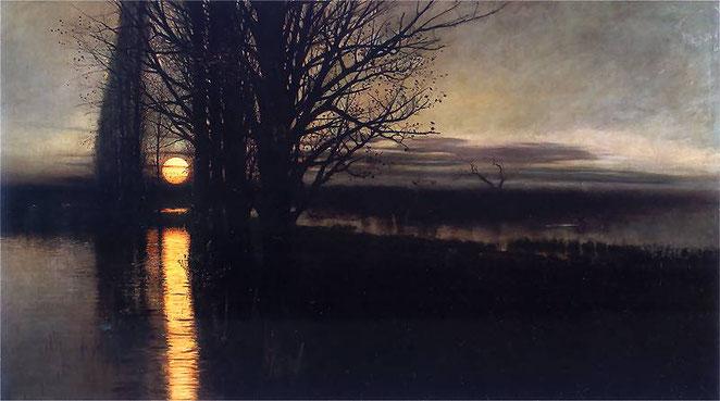 """Stanisław Masłowski, """"Moonrise"""" (c. 1884)"""