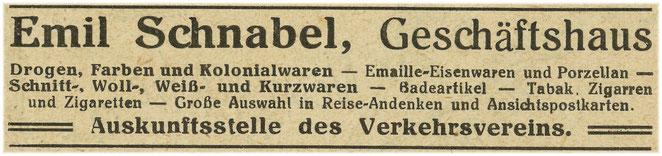 Anzeige 1920er Jahre.