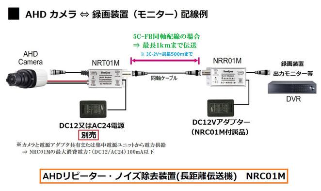 AHDノイズ除去装置 SC-NRC01M - 接続例図面