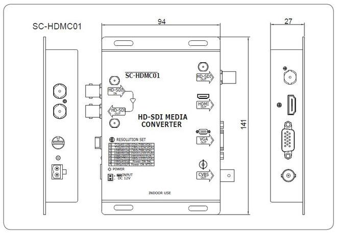 HDMC01 製品寸法図