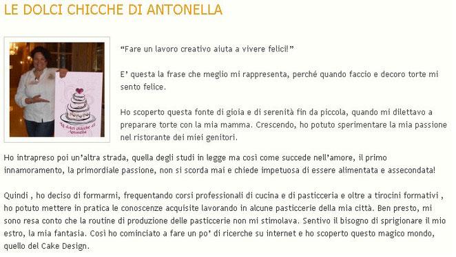 dolcichicchediantonella.com su Cake Design Italia