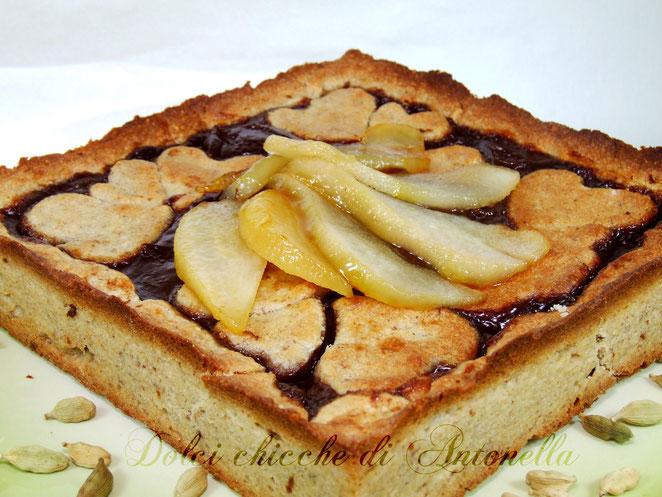 crostata cioccolato pere e cardamomo www.dolcichicchediantonella.com