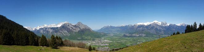Panorama Rheintal, Wangs-Pizol, Gonzen, Jungwacht Kriens, Sommerlager 2016, Lagerplatz