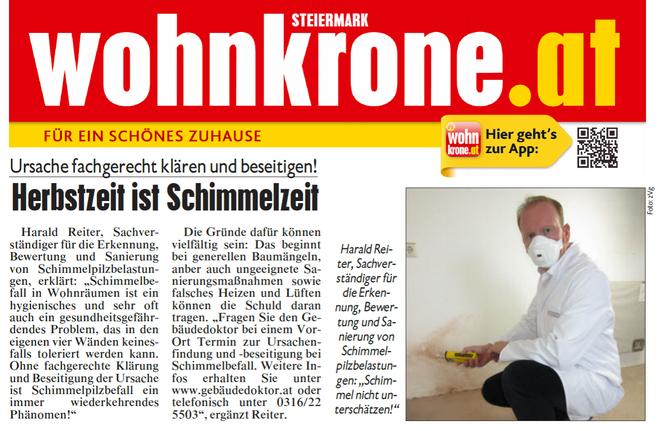 gebäudedoktor.at, energiebaumeister.at, Reiter-GmbH, Quelle: Steiermark Wohnkrone, Oktober 2016