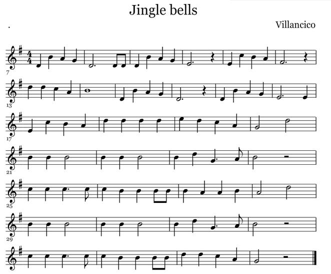 Jingle bells (Score)
