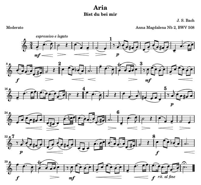 Para la flauta dulce: en el compás 34 tocar las 3 primeras notas una octava más aguda.
