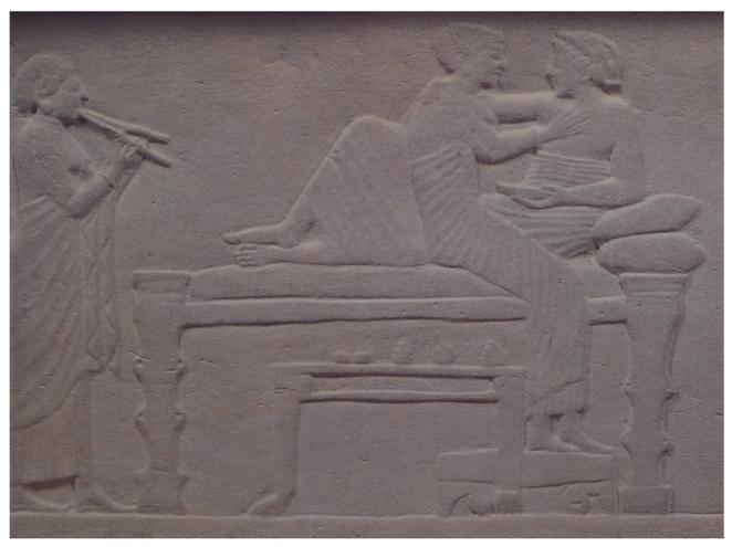 Detalle de sarcófago. Siglo V a.C. (Golgoi, Chipre)