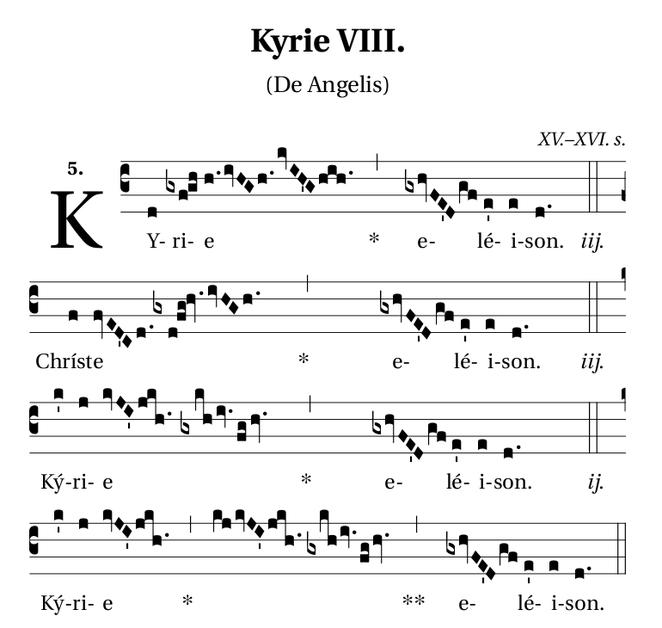 Kyrie de la Misa de Angelis