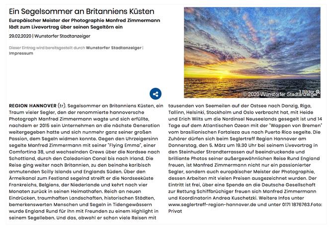 Wunstorfer Stadtanzeiger, 29. März 2020