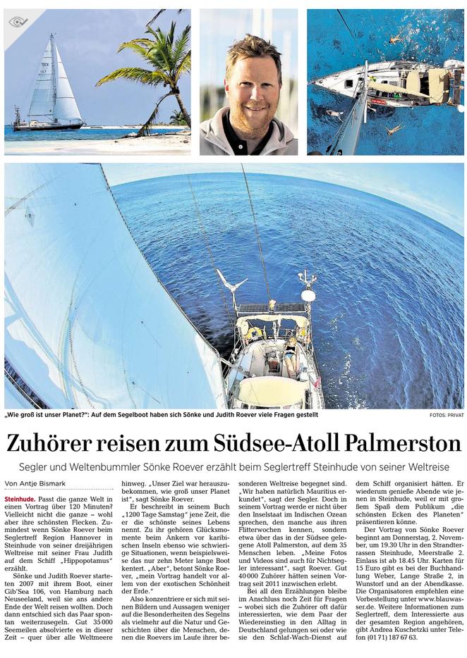 Hannoversche Allgemeine Zeitung, Wunstorfer Regionalteil, 19.10.2017